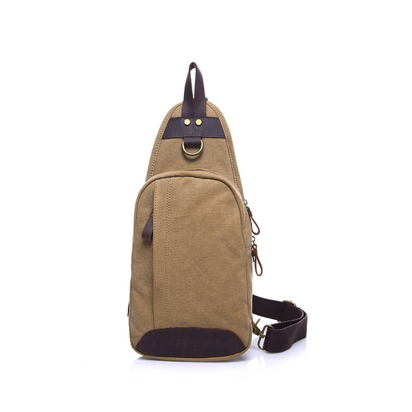Vintage Canvas Crossbody Bag Men Canvas Chest Pack Canvas Small Messenger Bag YD1913