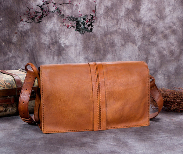 Men's Business Clutch Bag, Dual Use Vintage Messenger Bags, Leather Wallets A0190 - ROCKCOWLEATHERSTUDIO