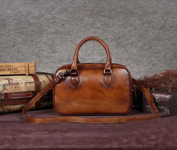 Handmade Full Grain Leather Messenger Bag, Designer Handbag A0030 - ROCKCOWLEATHERSTUDIO