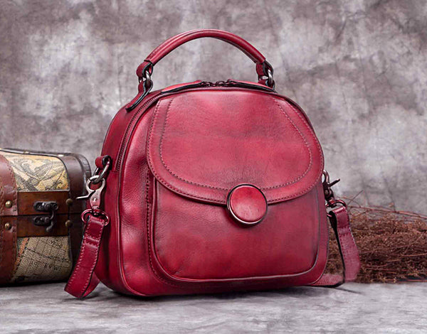 Fashion Full Grain Leather Messenger Shoulder Bags Satchel Bags Leather Tote A0293 - ROCKCOWLEATHERSTUDIO