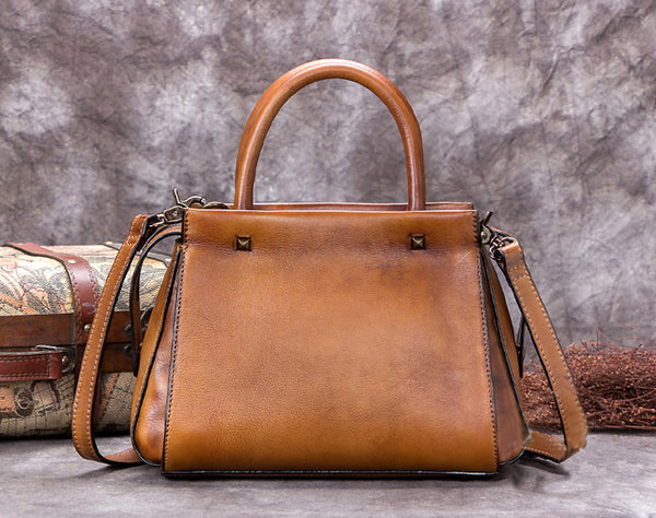 Full Grain Leather Shoulder Bag, Designer Handbag For Women A0281 - ROCKCOWLEATHERSTUDIO