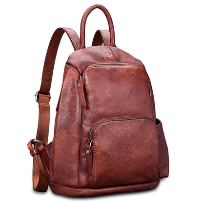 Fashion Full Grain Leather Messenger Shoulder Bags Satchel Bags Leather Tote A0297 - ROCKCOWLEATHERSTUDIO