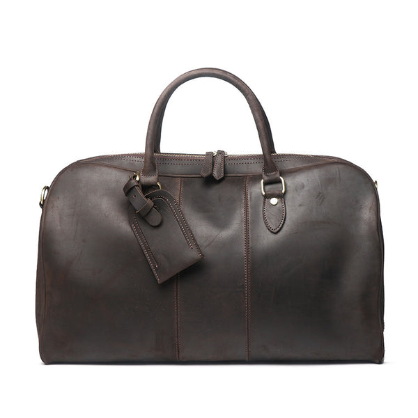 Vintage Leather Duffle Bag, Mens Travel Bag, Gym Bags for Men 2035