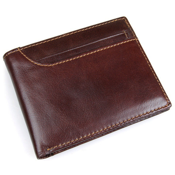 Handmade  Leather Wallet, Wallet Kate SpadeCard Holder, Wallet Rfid Man Short Wallet 8104 - ROCKCOWLEATHERSTUDIO