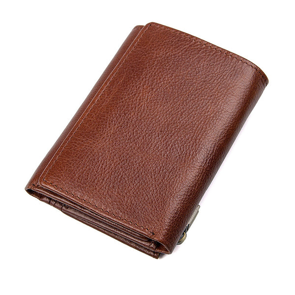 Vintage Style  Leather Wallet, Wallet Money Clip Long Purse, Money Clip Wallet 8187
