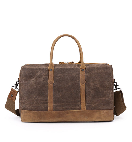 65d909f486 ... Canvas with Leather Duffle Bags