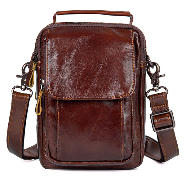 Business Bags For Men Leather Bags For Men Leather Messenger Shoulder Bag 1032 - ROCKCOWLEATHERSTUDIO
