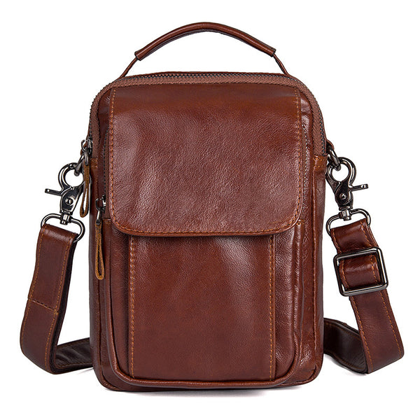 Mens Designer Messenger Bags Bike Messenger Bag Men Leather Bags Side Bags For Mens 10321 - ROCKCOWLEATHERSTUDIO