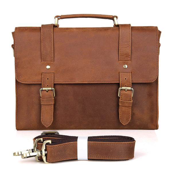 Messenger Purse Bike Messenger Bag Men Leather Bags Side Bags For Mens 6076 - ROCKCOWLEATHERSTUDIO