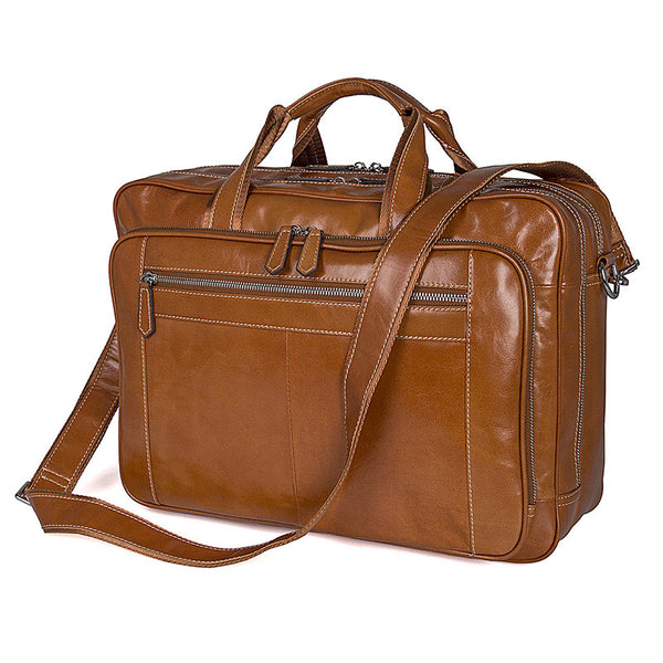 Modern Briefcase Leather Laptop Bags For Men,Best Briefcases For Men 7380 - ROCKCOWLEATHERSTUDIO
