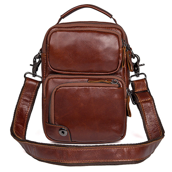 Cross Bag For Man Vertical Messenger Bag  Men Large Messenger Bags 1010 - ROCKCOWLEATHERSTUDIO
