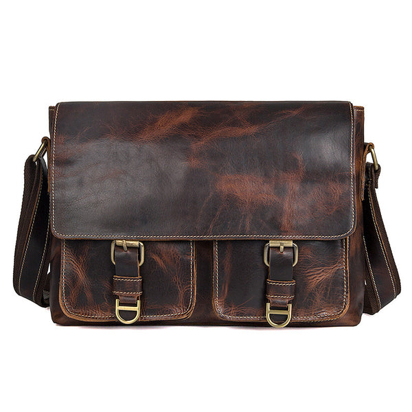 Designer Shoulder Bags Mens Vertical Messenger Bag  Men Large Messenger Bags 1038 - ROCKCOWLEATHERSTUDIO