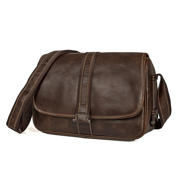 Work Messenger Bag Mens Vertical Messenger Bag Sling Messenger Bag 1030 - ROCKCOWLEATHERSTUDIO