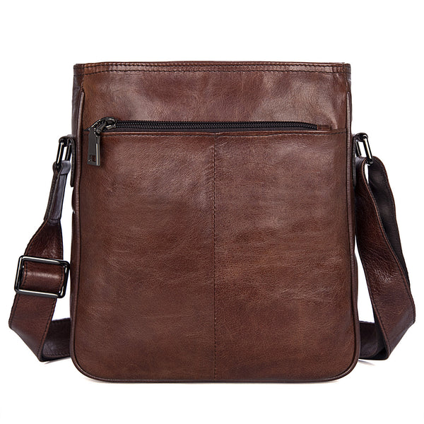 Cross Bag For Man Vertical Messenger Bag  Mens Work Bags 1825 - ROCKCOWLEATHERSTUDIO