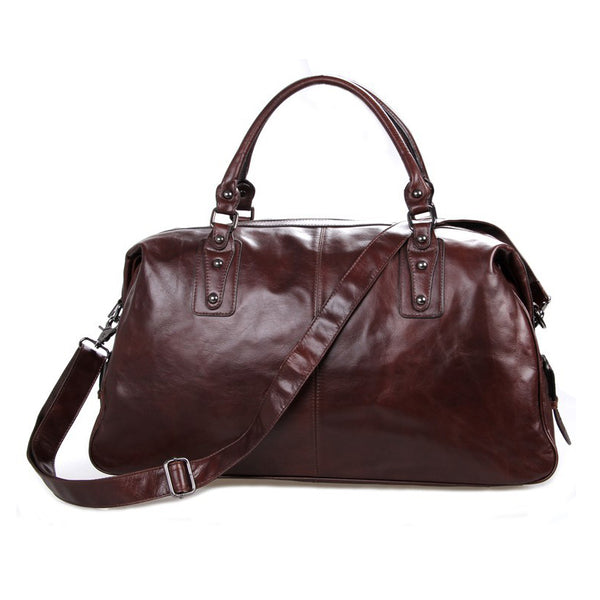 Designer Handbags Mens Leather Travel Bag Business Travel Luggage Bag 7071 - ROCKCOWLEATHERSTUDIO