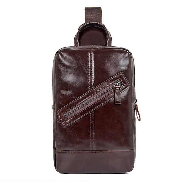Cheap Messenger Bags Vertical Messenger Bag  Mens Work Bags Mini Messenger Bag 4010 - ROCKCOWLEATHERSTUDIO