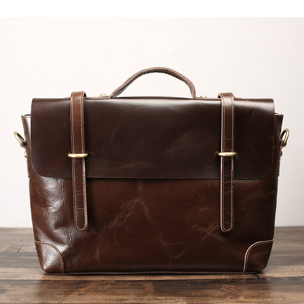 Flash Sale Crazy Horse Leather Laptop Bag, Briefcase, Messenger Bag Men Business  Bag 0342 - ROCKCOWLEATHERSTUDIO