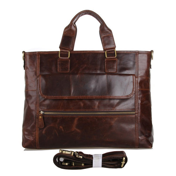 Best Laptop Messenger Bag Briefcase Men Leather Bags Side Bags For Mens 7212 - ROCKCOWLEATHERSTUDIO