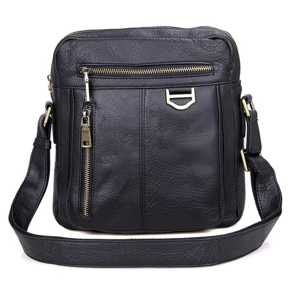 New Fashion Messenger Bags Casual Leather Bags For Men Leather Messenger Corssbody Side Shoulder Bag 1011