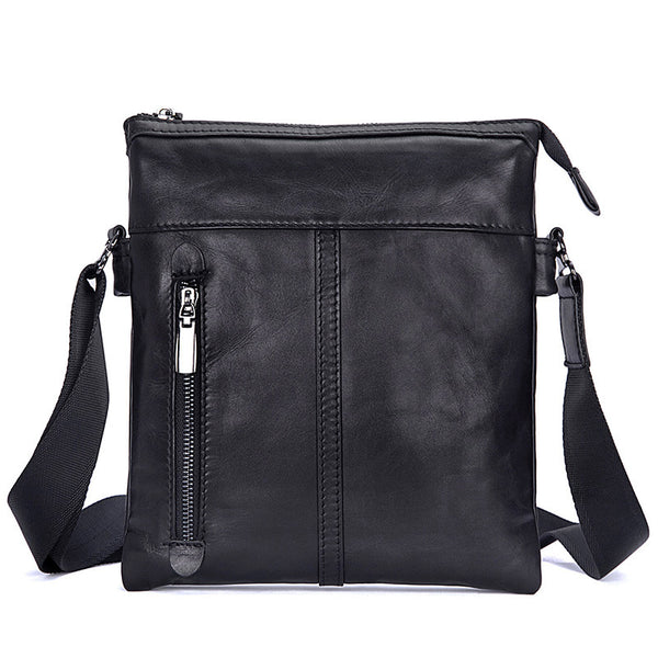 New Fashion Messenger Bags Casual Leather Bags For Men Leather Messenger Corssbody Side Shoulder Bag 1023A - ROCKCOWLEATHERSTUDIO