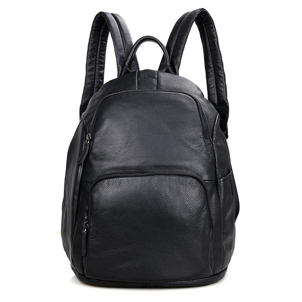 Genuine Leather Backpack, Korean Style School Bag, Casual Shoulder Laptop Bag For Men 2005 - ROCKCOWLEATHERSTUDIO