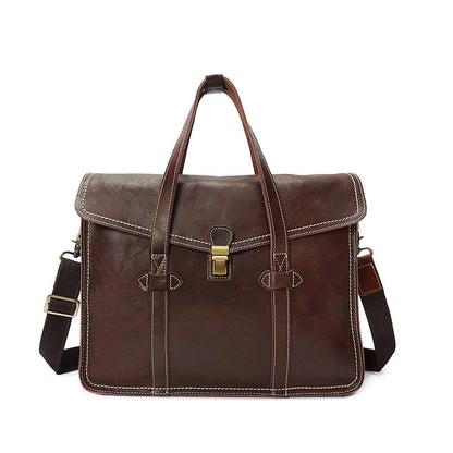 Retro Men Tote Bag Full Grain leather Men Messenger Bag Men Shoulder Bag YD8072
