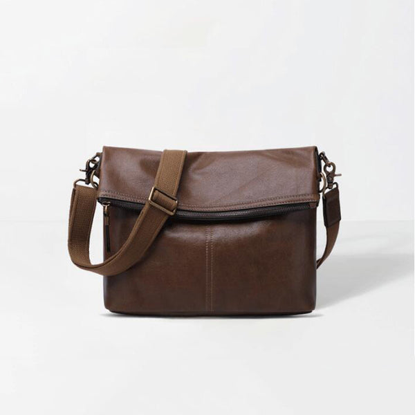 Retro Men Shoulder Bag Full Grain Leather Men Messenger Bag Men Crossbody Bag YD8121