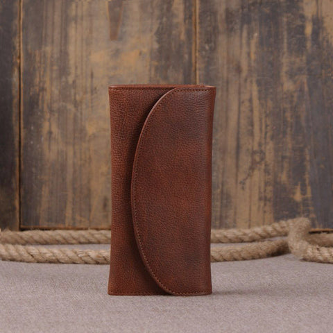 Brown Italian Leather Wallet 9066 - ROCKCOWLEATHERSTUDIO