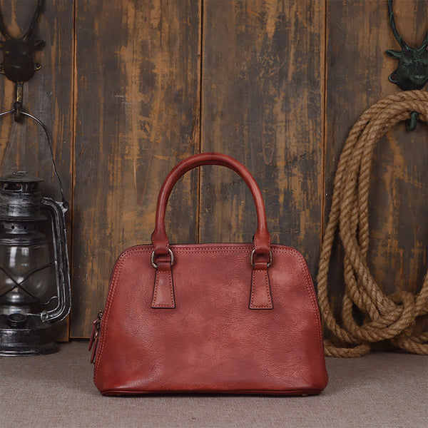 Fashion Genuine Leather Messenger Shoulder Bag Satchel Bags Leather Tote 9032 - ROCKCOWLEATHERSTUDIO