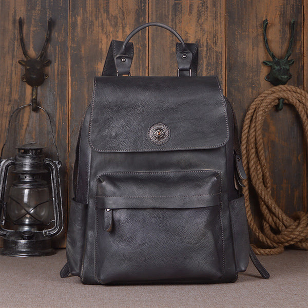 Handcrafted Genuine Leather Backpack Travel Backpack