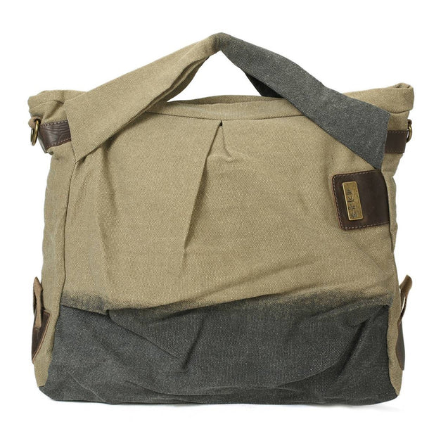 Flash Sale  Canvas Fashion Travel Bag, Waterproof Shoulder Bag, Overnight Bag 3476 - ROCKCOWLEATHERSTUDIO