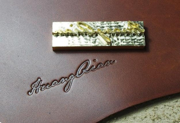 Imprint Logo / Initials / Name, Custom Logo, Personalized Embossing Service - ROCKCOWLEATHERSTUDIO