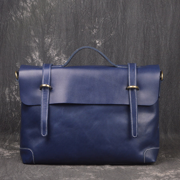Classic Vintage Leather Briefcase for Men, Messenger Bags 1009-1 - ROCKCOWLEATHERSTUDIO