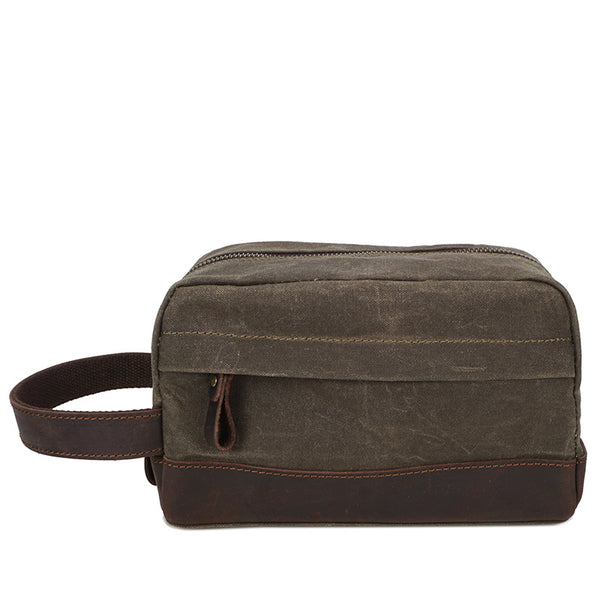 ... Canvas Leather Toiletry Bag New Design Dopp Kit Vintage Cosmetic Bag  3227 - ROCKCOWLEATHERSTUDIO ... 8e21ad33a671b
