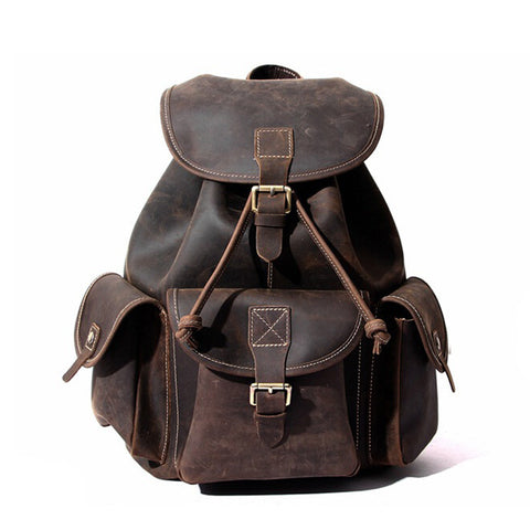 Handmade Designer Backpacks Men Leather Backpack Rucksack 8891L