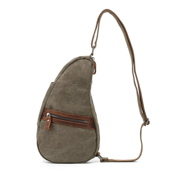 Outdoor Canvas Men Chest Bags Vintage Chest Pack Men Crossbody Sling Messenger Bags 2066