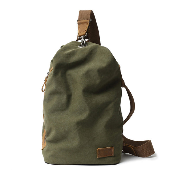 Canvas Men Chest Bags Vintage Chest Pack Men Crossbody Sling Messenger Bags 3053 - ROCKCOWLEATHERSTUDIO