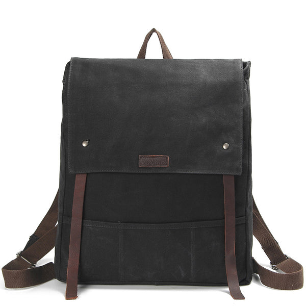 ... Waxed Canvas Leather Backpack Waterproof Rucksack Mens Canvas Backpack  AF17 ... 71d00706dd