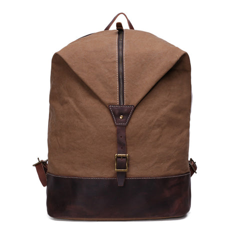 Unisex High School Canvas Backpack School Bag Travel Bag Laptop Bag YD2108 - ROCKCOWLEATHERSTUDIO
