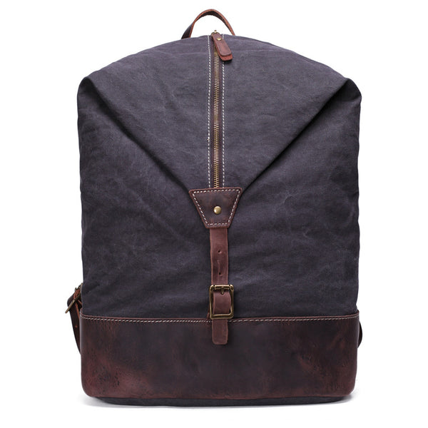 Vintage Canvas Backpack Rucksack Casual Daypacks Bookbags YD2108 - ROCKCOWLEATHERSTUDIO