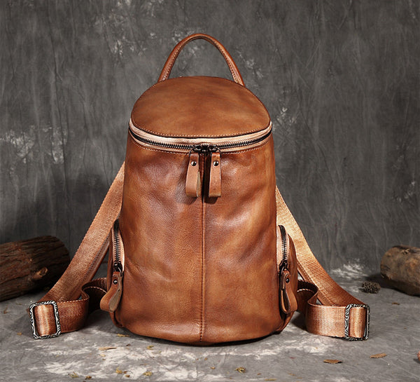Vintage Handmade Leather Designer Backpack, Women Handbags FY7226 - ROCKCOWLEATHERSTUDIO