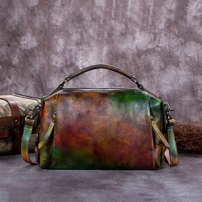 Handmade Vintage Bag, Leather Satchel bag, Women Handbag A0191