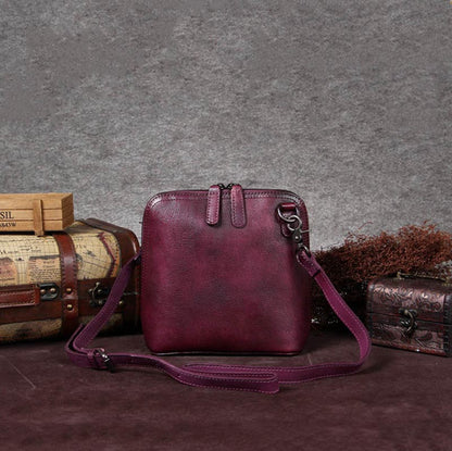 Handmade Vintage Full Grain Leather Satchel Bags, Shoulder Bag For Women A0019