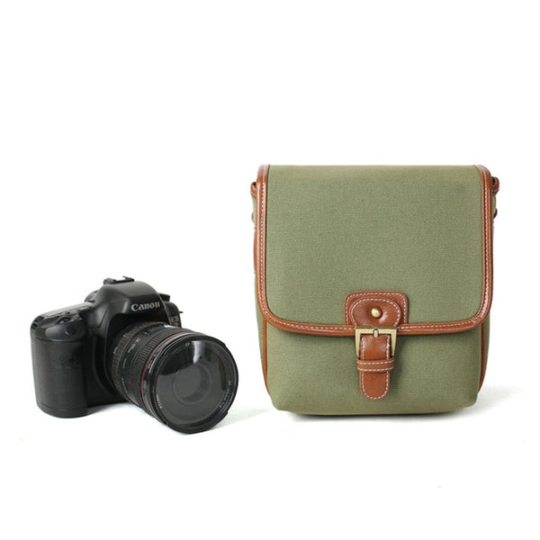 Flash Sale ROCKCOW Photographic Hunter Camera Bag Canvas Camera Bag DSLR Camera Bag 1356 - ROCKCOWLEATHERSTUDIO