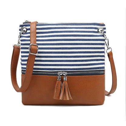 Canvas Shoulder Bag For Women Stylish Messenger Bag Canvas With Leather Crossbody Bag YY918