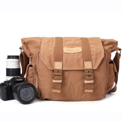Canvas DSLR Camera Bag, Professional SLR Camera Bag, Men's Canvas Messenger Bag BBK-1