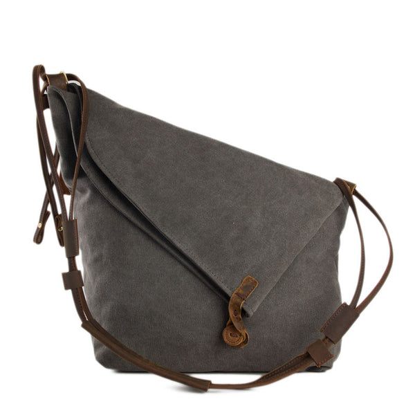 Waxed Canvas Messenger Bag Crossbody Bag Shoulder Bag Satchel Bag 6631 - ROCKCOWLEATHERSTUDIO