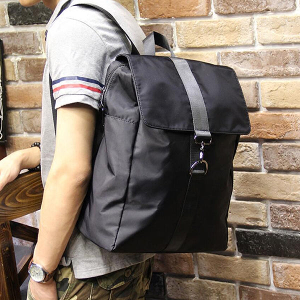 Canvas School Backpack Men Travel Backpack Laptop Backpack Daily Backpack P400 - ROCKCOWLEATHERSTUDIO