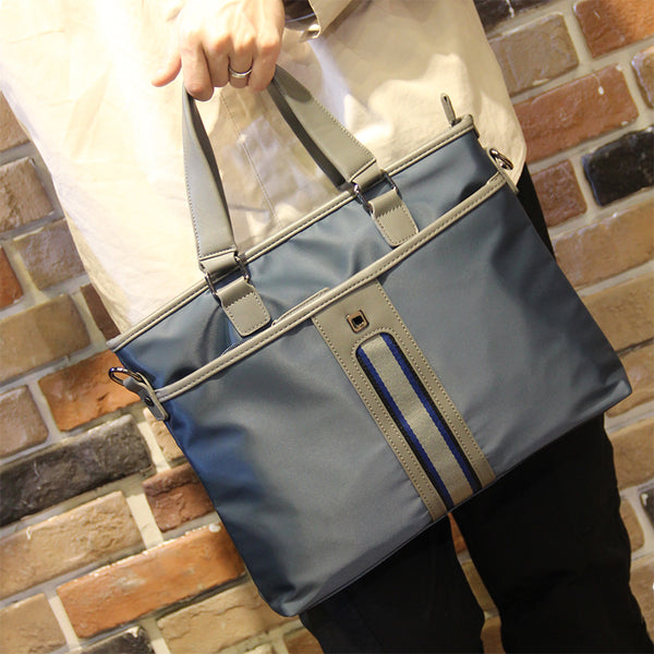 Canvas Tote Bag Canvas Briefcase  Men Business Shoulder Messenger Bag P289 - ROCKCOWLEATHERSTUDIO