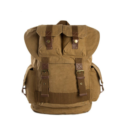 Large Volume Canvas Backpack, School Backpack, Track Backpack 1076 - ROCKCOWLEATHERSTUDIO